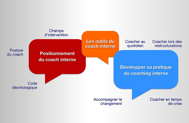 Des formations aux spécificités du coaching interne par des Master Coachs certifiés.